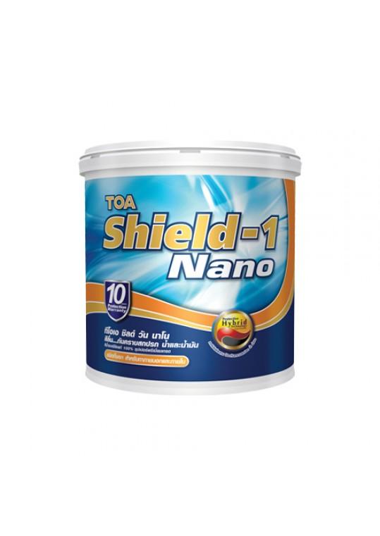 ทีโอเอ ชิลด์ วัน นาโน สีน้ำอะคริลิกชนิดกึ่งเงา สำหรับภายนอกและภายใน